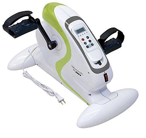 Tecnovita by BH Mini Bike eléctrica YF612 Ejercicio Suave para piernas y Brazos. Pedaleo asistido con Motor o Manual. Pedales ergonómicos.