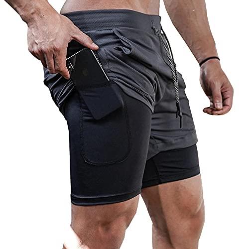 Davicher Pantalones Cortos Deportivos para Hombre, chándal Deportivo de compresión Interna con...*