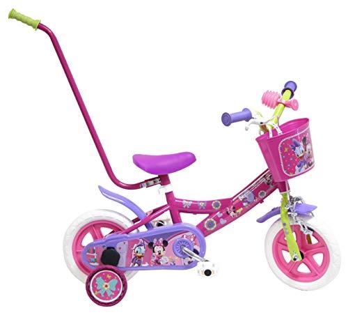 Disney Bicicleta Niño Minnie con Barra de Aprendizaje 10 pulg Rosa 2-4 años*