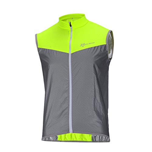 ROCKBROS Chaleco Reflectante para Bicicleta Running, Chaleco Seguridad Alta Visibilidad Transpirable...*