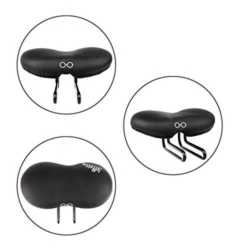 sellOttO Ciao - Nuevo sillín Acolchado Gel Anti Próstata Vulvitis - Ideal para Bicicleta Ciutad, Eléctrica, Plegable, Piñón Fijo, Carga, MTB, Montaña