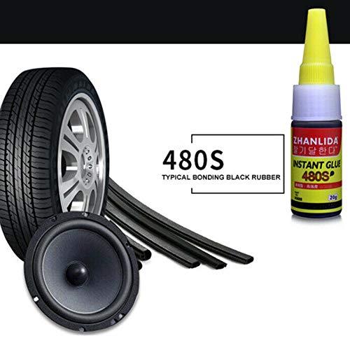 Pegamento de reparación de neumáticos Balight 1PCS 480S Super Glue Auto Reparación de goma Pegamento de neumático Ventana Sello de altavoz Pegamento de reparación de neumático
