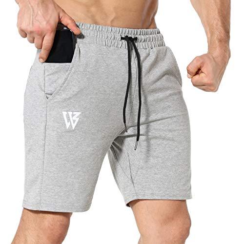 Pantalones Cortos Hombre Deporte de Running Gimnasio Pantalón Correr con Bolsillos con Cremallera...*