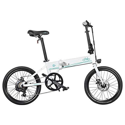 Bicicleta eléctrica Plegable para Adultos FIIDO D4S, Bicicleta de montaña para Hombre de 20' con Motor de 250 W, batería de 36V 10,4Ah (Blanco)