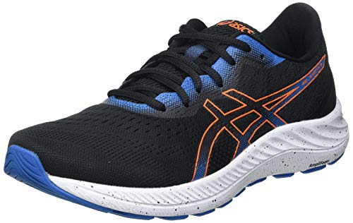Asics Gel-Excite 8, Road Running Shoe Hombre, Black/Marigold Orange, 44 EU*