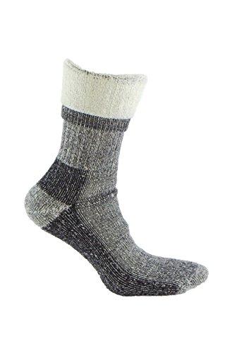 Calcetín de LANA MERINO de TREKKING, con costuras técnicas para deportes de invierno (esquí, running, senderismo, …) o situaciones de frío y humedad. Ideales para el uso con botas de montaña (39-42)