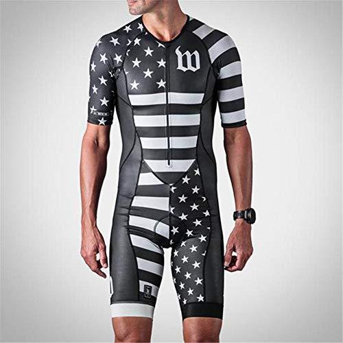 NHGFP QPM Jersey De Triatlón Skinsuit Vestimenta De Ciclismo Salpicaduras Hombre En Bicicleta Conjunto De Cuerpo Juego De Los Deportes De Velocidad MTB Mono (Color : 8, Size : XXS)