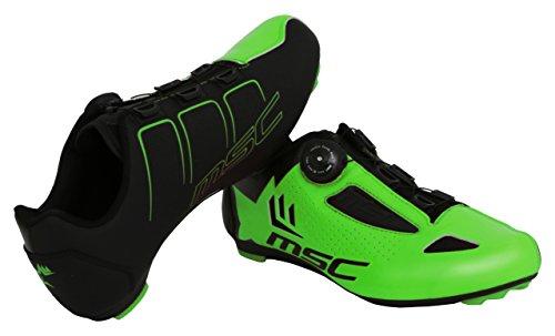 MSC Bikes Aero Road Zapatillas Ciclismo, Verde, T-45