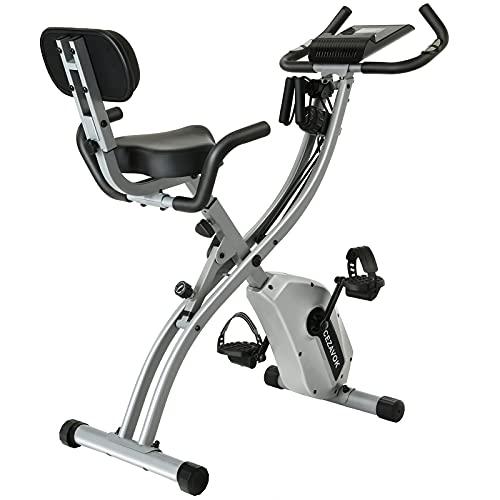 CEZAVOK Bicicleta Estática Magnética Bicicleta Fitness en Casa Plegable con Altura y Resistencia...*