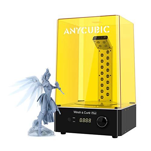 ANYCUBIC Wash and Cure Plus - Máquina de lavado y endurecimiento 2 en 1, para impresoras LCD/DLP/SLA 3D, con mesa de endurecimiento giratoria de 360°, para Photon Mono X/Mono (192 x 120 x 290 mm)