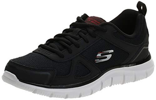 Skechers Track-Scloric 52631-Bkrd, Hombre Unisex Adulto, Negro (Negro 52631/Bkrd), 42 EU*