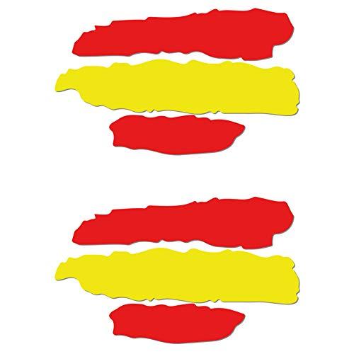 2 unds Pegatina vinilo adhesivo bandera España para cascos coches motos ciclomotores bicicletas de...*