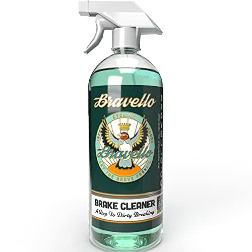 Bravello Limpiador de frenos de bicicleta espumante, spray de limpieza para frenos de disco y pinza de bicicleta, para todas las bicicletas y frenos, 500 ml