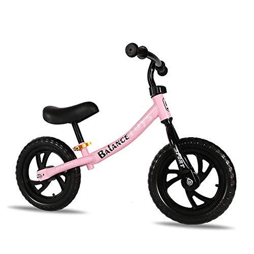 Bicicleta sin Pedales para niños y niñas a Partir de 3-4 año, Bici 12' Ligero con sillín y manubrio Regulable, Rosado,Pink