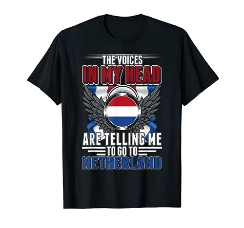 Países Bajos Vacaciones Holanda Bandera holandesa Camiseta