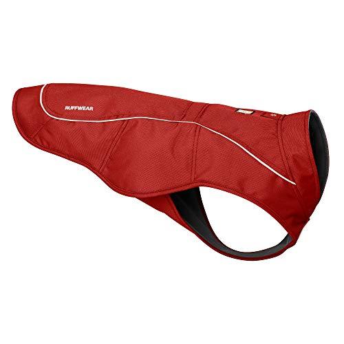 RUFFWEAR Chaqueta Overcoat, Chaqueta para Perros Resistente a la Abrasión con Forro Polar para el Frío, Color Rojo, XS