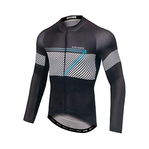 Yuanu Hombre Maillot Ciclismo Largo Camisetas de Bicis Otoño Invierno Manga Larga Traje Bicicleta...*