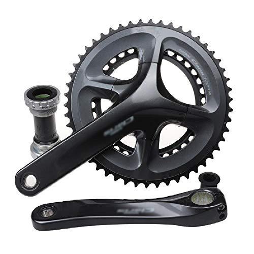 GWZZ Carretera Bicicleta Plegable y bielas 8 9 Velocidad Velocidad de Agujeros Cuadrados y...*
