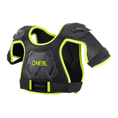 O'Neal   Protector de Pecho   Motocross Enduro   Plástico inyectado de fácil ajuste para una mayor protección, edades 4-9   Pee Wee Chest Guard   Niños   Negro Neón Amarillo   Tamaño M/L