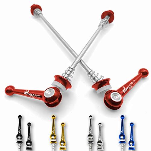 IMPALAPRO Bike Set de 2 Cierres rápidos de Titanio para Rueda de Bicicleta montaña (MTB) o...*