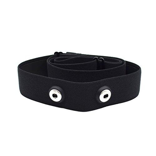 Correa elástica ajustable para el pecho para medir el ritmo cardíaco para equipos Garmin Wahoo Polar, color CooSpo Original HRM Belt Black