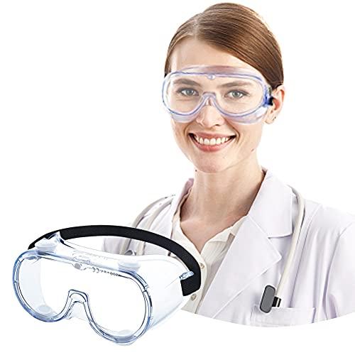 Gafas de Seguridad,Lentes de Seguridad antivaho Prevención Polvo Prueba de Impacto Arena a Prueba de Viento Para Anti Salpicaduras para Laboratorio, Agricultura, Industria