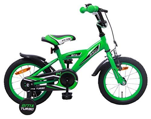 Amigo BMX Turbo - Bicicleta Infantil de 14 Pulgadas - para niños de 3 a 4 años - con V-Brake,...*
