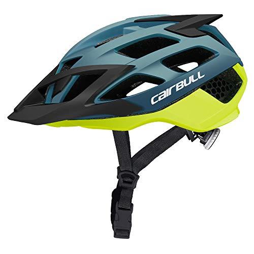 Cairbull Aerodinámica Casco de Bicicleta Carretera Montaña, Unisex Adulto,Ajustable M 52-57 cm con Visera