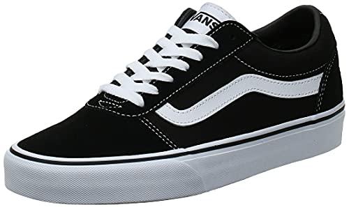 Vans Ward Suede/Canvas, Zapatillas Hombre, Negro (Black/White Car), 42 EU