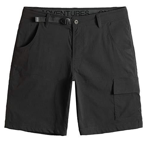 MaaMgic Pantalones Cortos Hombre Bermudas Cargo Hombre Pantalones de Acampada y Senderismo Pantalon Montaña Hombre Respirable Nailon Ligero Secado Rápido, Gris Oscuro, Size 34