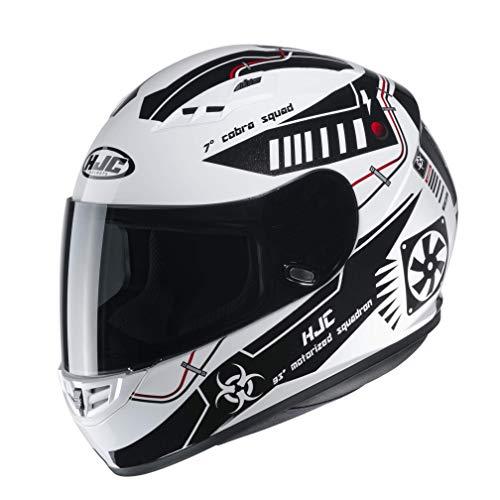HJC NC Casco per Moto, Hombre, Blanco/Negro, S
