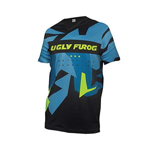UGLY FROG Uglyfrog BurningBikewears Racewear Manga Corta Downhill Jersey DH/Am/XC/FR/MTB/BMX/Moto...*