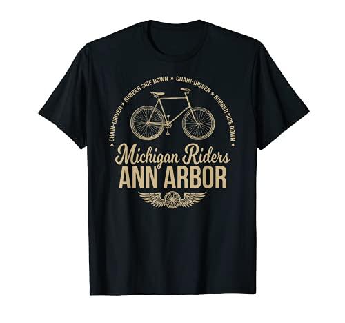 Ann Arbor Michigan Bicicleta De Ciclismo Camiseta