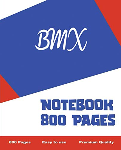 BMX - Notebook 800 Pages: Giant Journal 800 Pages 400 Sheets, Large Size 7.5 x 9.25, Wide Ruled...*