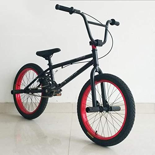TX Pruebas De Bicicleta De Montaña Deporte Extremo Frenos De Disco 20 Pulgadas Deporte Al Aire Libre Monturas Marco Negro Llantas Rojas