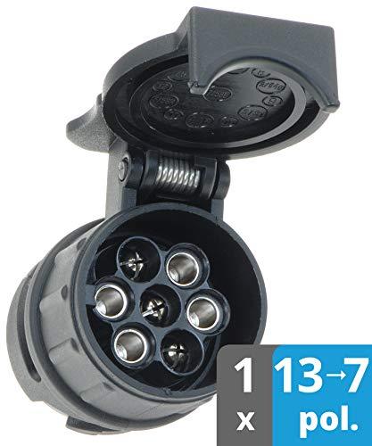 valonic Adaptador Enchufe Remolque   13 a 7   Accesorios para Caravana, Coche, camión, Porta bicis...*