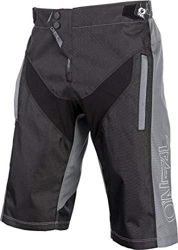 O'Neal | Pantalones de Ciclismo de montaña | MTB Mountain Bike DH Downhill FR Freeride | Durable Mesh Material, Stretch Inserts | Element FR Shorts Hybrid | Adult | Negro Grey | Talla 32/48