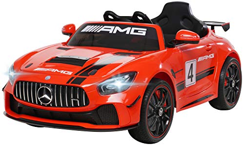 Coche eléctrico infantil Mercedes Benz Amg GT4 Sport Edition – Licencia – Mando a distancia de...*