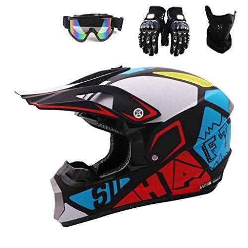 Xiaol Casco de moto, casco protector de motocross para motos, crossbike, off road y enduro con...*
