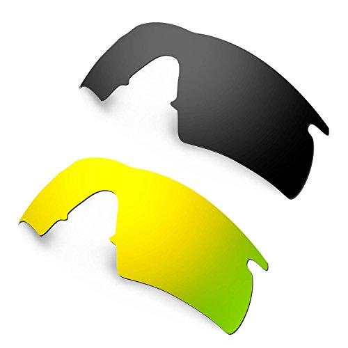 HKUCO Plus Mens Replacement Lenses For Oakley M Frame Hybrid - 2 Pair*