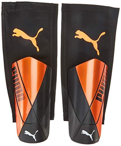 PUMA ftblNXT Pro Flex Sleeve Espinillera Futbol, Unisex-Adult, Shocking Orange Black White, XS*