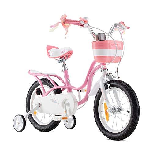 RoyalBaby Bicicleta para niños niña Little Swan Ruedas auxiliares Bicicletas Infantiles Bicicleta...*
