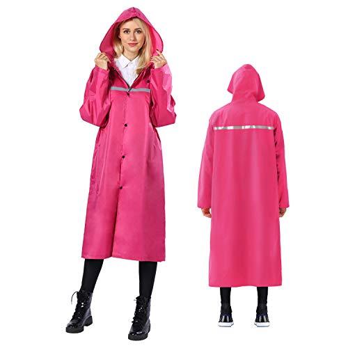 iOutdoor Products Poncho de lluvia premium con capucha con cordón, manga larga, impermeable y con...*