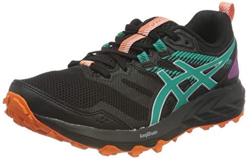 Asics Gel-Sonoma 6, Trail Running Shoe Mujer, Black/Baltic Jewel, 38 EU
