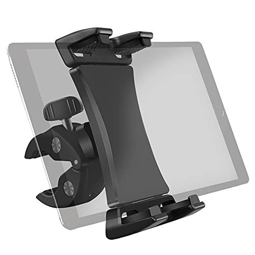Soporte de soporte para manillar de bicicleta para cinta de correr de gimnasio, bicicleta giratoria, elíptica, for iPad Pro Air Mini 12.9 11 10.5 tabletas de teléfono de 3.5 a 13.5 pulgadas