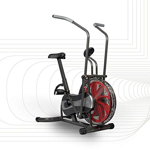 SportPlus Fan Bike, Air Bike, bicicleta de ejercicio, resistencia al aire y freno de correa, turbina...*