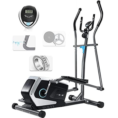 ISE Bicicleta Elíptica Profesional de Fitness para Casa con Sensor de Pulso,8 Niveles de...*