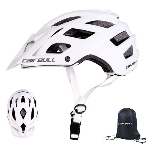 Cairbull Aerodinámica Casco de Bicicletta, Unisex Adulto, Ajustable 55-61 cm con Visera