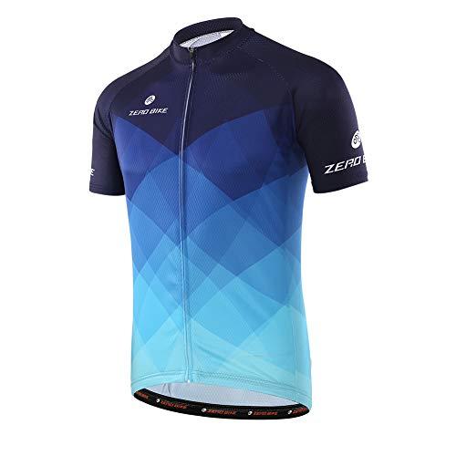Camiseta de Ciclismo Transpirable de Manga Corta para Hombre, de Secado rápido, XL