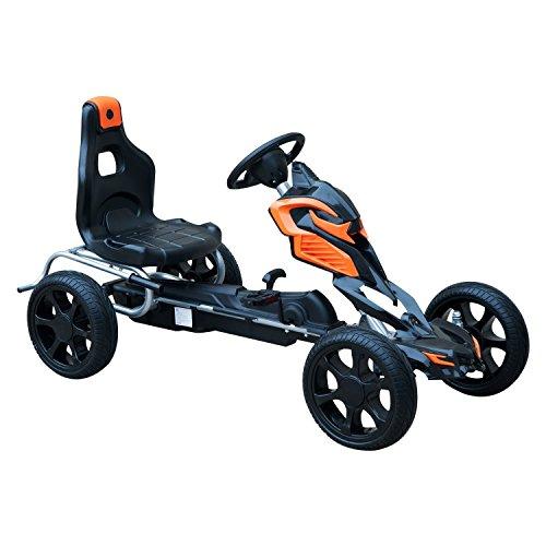 HOMCOM Go Kart Racing Deportivo Coche de Pedales para Niños +5 Años con Asiento Ajustable Embrague...*
